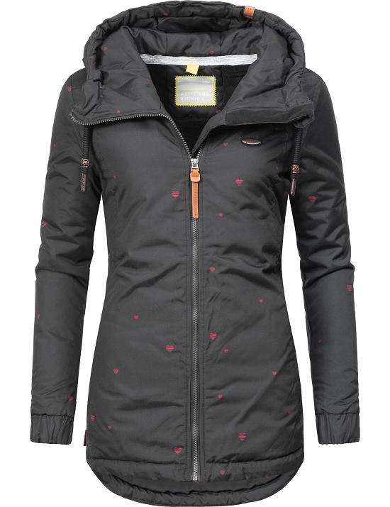 Details zu Alife and Kickin Damen Winter Jacke Kurz Mantel Parka Kapuze Herbst warm Lilou