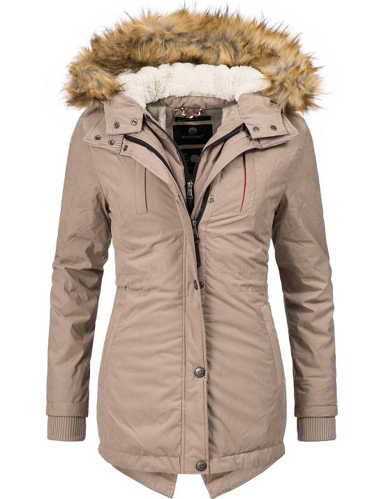 c8e745982d4f37 Marikoo Damen Winter Mantel Parka Winterjacke Teddyfleece Kunstpelz ...