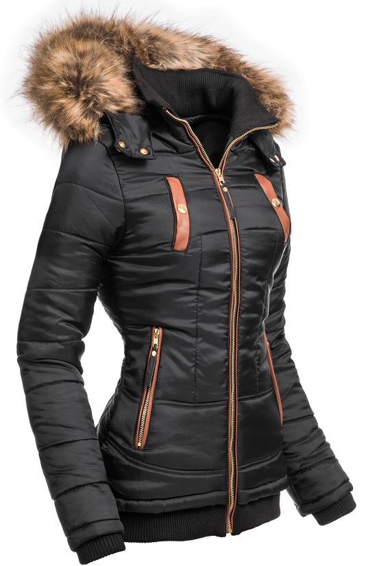 competitive price cdf23 a89ca Details zu Navahoo Damen Steppjacke Jacke Winterjacke Kurzmantel Winter  Mantel Parka Alina