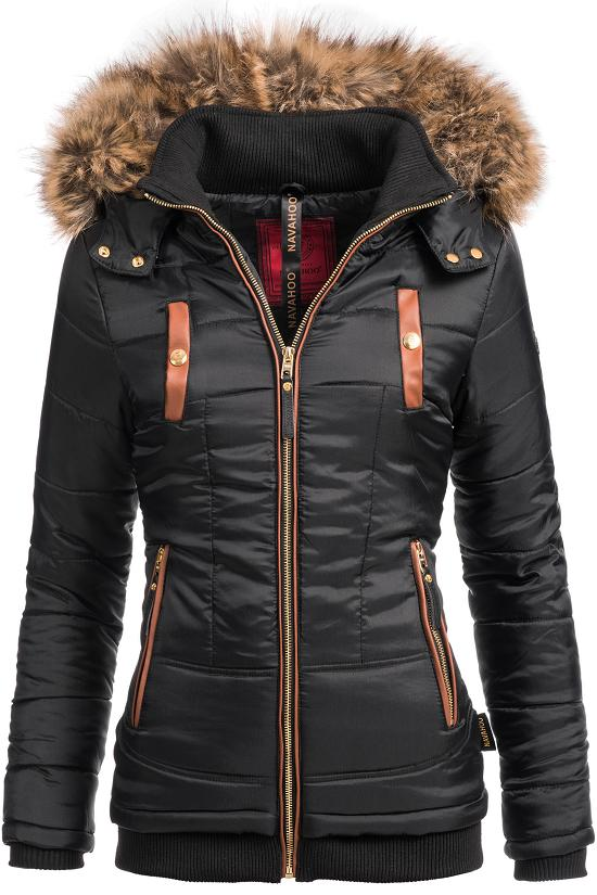 navahoo damen steppjacke jacke winterjacke kurzmantel winter mantel parka alina ebay. Black Bedroom Furniture Sets. Home Design Ideas