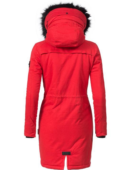 navahoo damen winter baumwoll parka mantel jacke kunstpelz kapuze zipper leola ebay. Black Bedroom Furniture Sets. Home Design Ideas