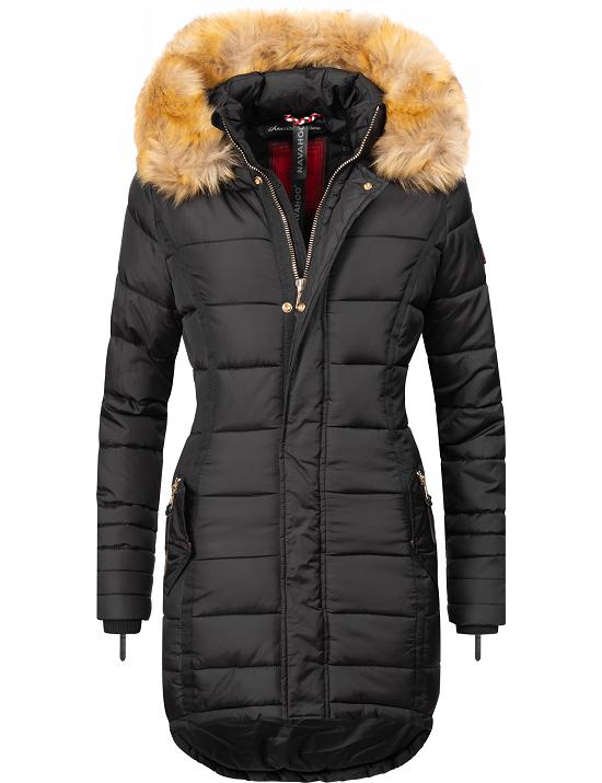 navahoo papaya warmer damen winter stepp mantel jacke parka kunstpelz kapuze ebay. Black Bedroom Furniture Sets. Home Design Ideas