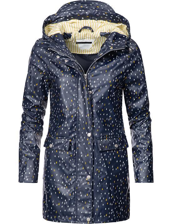 Details zu Peak Time Damen Outdoor Regen Jacke Übergangsjacke Parka Mantel Kapuze L60017
