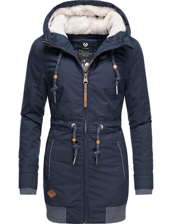 Details about Ragwear Ladies Winter Jacket short Coat Parka Hood Autumn Warm Teddy Zirrcon